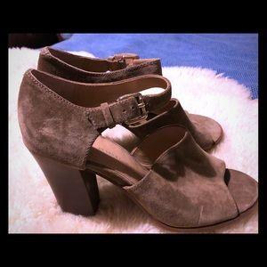 Vince Camino tan suede heels. Size 10 Like new!